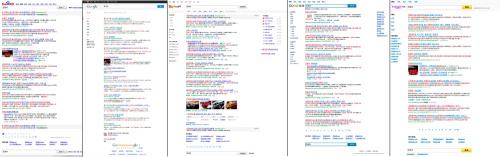 """Búsqueda de """"西雅特"""" en los buscadores chinos: Baidu, Google China, Sogou, Soso y Yahoo China"""